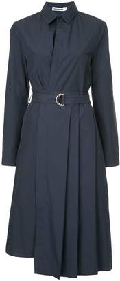 Jil Sander pleated midi shirt dress