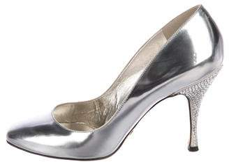 Dolce & Gabbana Patent Leather Strass Pumps
