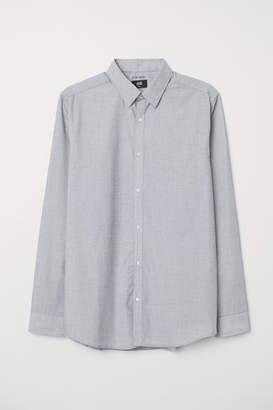 H&M Easy-iron Shirt Slim fit - Gray