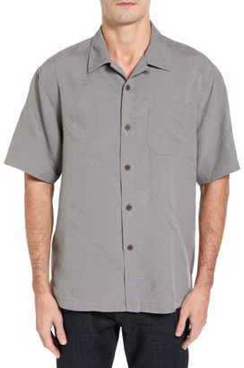 Tommy Bahama Rio Fronds Short Sleeve Silk Sport Shirt (Big & Tall) $118 thestylecure.com