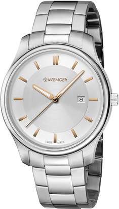 Wenger Men's 'City Classic' Swiss Quartz Two and Stainless Steel Casual Watch, Color:Silver-Toned (Model: 01.1441.105)