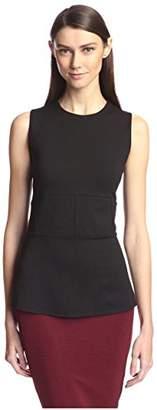 Society New York Women's Sleeveless High-Low Peplum Top