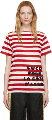 Gucci Red Striped Pour La Cote DAzur T-Shirt