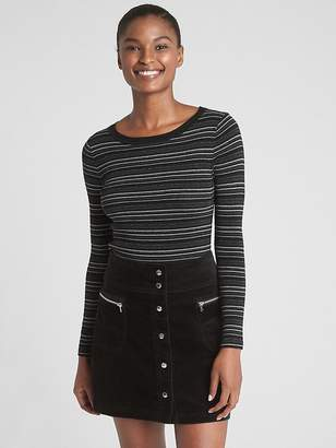 Gap Mix-Stripe Ribbed-Knit Pullover Sweater