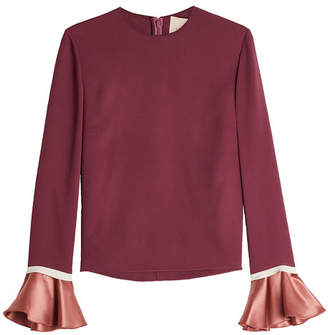 Roksanda Saba Silk Blouse with Ruffled Cuffs