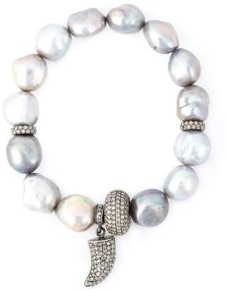 Loree Rodkin pearl diamond horn bracelet