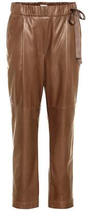 Brunello Cucinelli Cropped leather pants