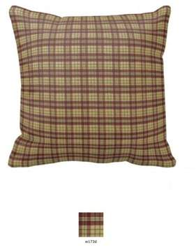 """Better Homes & Gardens Patch Magic Tan And Red Plaid Fabric Toss Pillow 16""""X 16"""""""