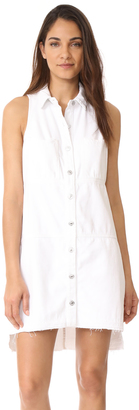 7 For All Mankind Sleeveless Dress with Step Hem $249 thestylecure.com