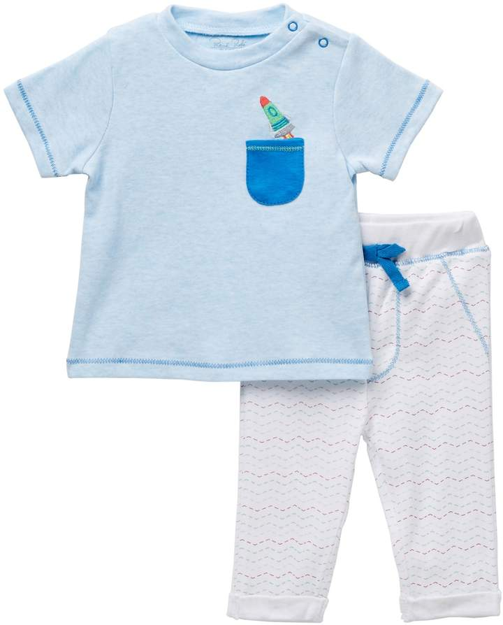 Rene Rofe Rocket Ship Tee & Pant Set (Baby Boys)
