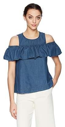 Vero Moda Women's Vmsamba Ruffle Tank Top Vest,(Manufacturer Size: Large)