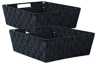 Laundry by Shelli Segal DII Durable Trapezoid Woven Nylon Storage Bin or Basket for Organizing Your Home