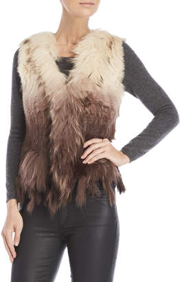 Dolce Cabo Real Fur Tassel Bottom Vest