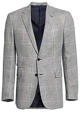 Ralph Lauren Purple Label Men's Glen Plaid Wool Two-Button Sport Coat