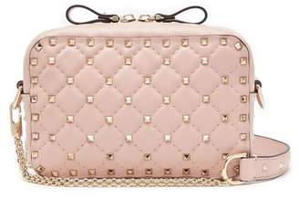 Valentino Rockstud Spike Leather Cross Body Bag - Womens - Light Pink