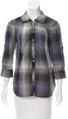 Joie Plaid Button-Up Top