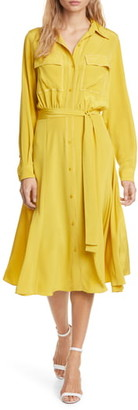 Diane von Furstenberg Antoinette Long Sleeve Silk Shirtdress