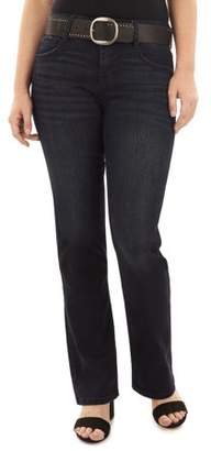 Angels Women's Curvy Belted Bootcut Jeans