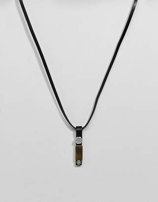 Diesel Leather Necklace