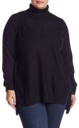Joe Fresh Turtleneck Raglan Sleeve Sweater (Plus Size)
