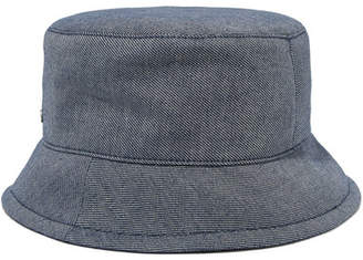 Maison Michel Axel Denim Bucket Hat - Navy