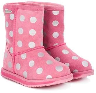 Emu polka dot print boots
