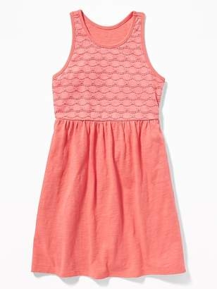 Old Navy Fit & Flare Lace-Bodice Dress for Girls