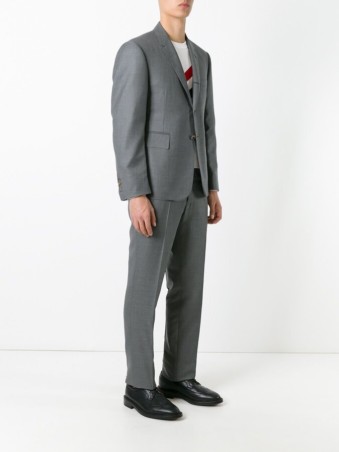 Thom Browne Classic Suit With Tie In Super 120's Twill