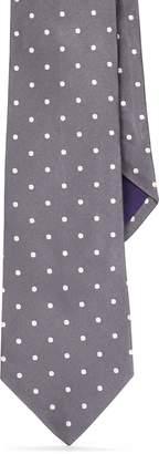 Ralph Lauren Polka-Dot Silk Satin Tie