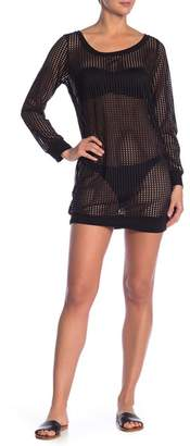 Jordan Taylor Mesh Long Sleeve Tunic