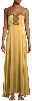 La Costa Del Algodon Anthea Lace-Trim Long Nightgown
