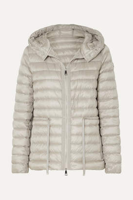 Moncler Hooded Quilted Shell Down Jacket - Beige