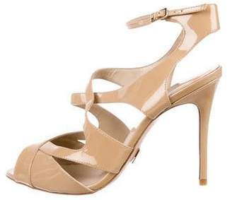 Michael Kors Patent Ankle-Strap Sandals