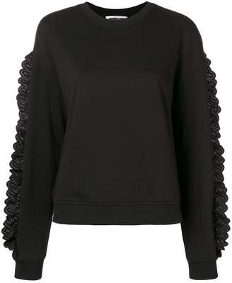 McQ lace trimmed sweatshirt