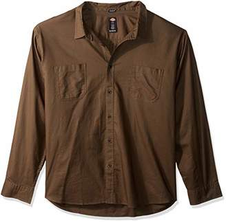 Dickies Men's Big and Tall Long Sleeve Relaxed Fit Solid Shirt