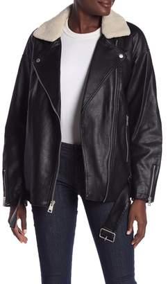 Levi's Faux Leather Faux Fur Zip Jacket