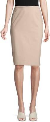 Lafayette 148 New York Stretch Cotton Pencil Skirt