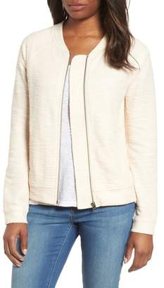 Caslon R R) Knit Bomber Jacket (Regular & Petite)