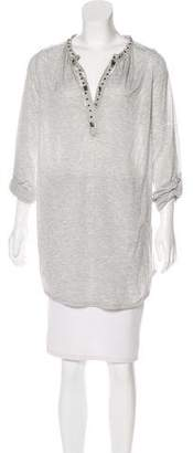 Magaschoni Embellished V-Neck Tunic