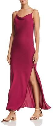 Theory Draped Silk Maxi Dress