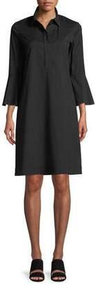 Lafayette 148 New York Lunella Stretch-Cotton Shirt Dress, Plus Size