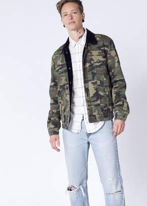 Barney Cools Reversible Camo Corduroy Jacket | Wildfang - Reversible Jacket - BLACK - LARGE