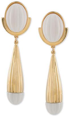 Trina Turk Gold-Tone & White Drop Earrings