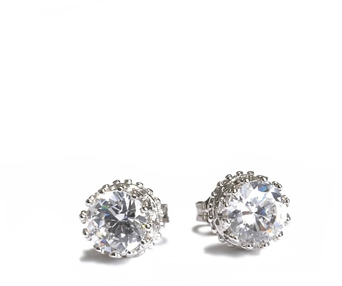 Crown Cubic Zirconia Stud Earring