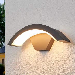 Gebogene LED-Außenwandleuchte Jule