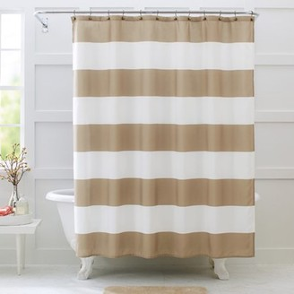 At Walmart Better Homes Gardens And Porter Stripe Fabric Shower Curtain