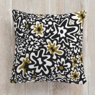 Mid Winter Daisies Square Pillow