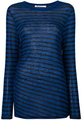 Alexander Wang striped cut out top