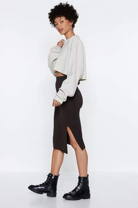 Nasty Gal Slit With Us Midi Skirt
