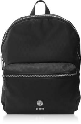a84347ecb56d Versace Versus Black Signature Printed Nylon Backpack